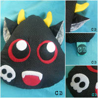Cute Evil Monster Decorative Pillow by TheChgz