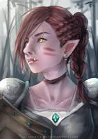 Fantasy Half Orc by Akashicchan