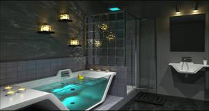 Contemporary Bathroom Caustics by DavidHier