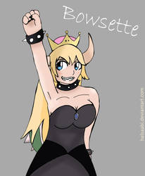 Princess Bowsette by Helsaabi