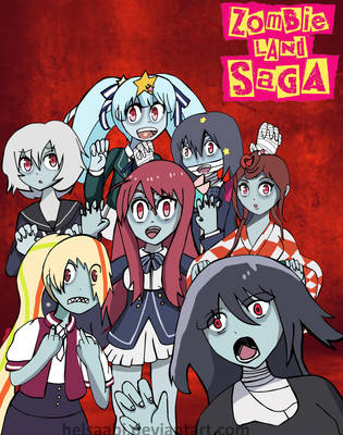 Zombie land Saga (anime of Fall 2018) by Helsaabi