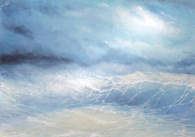Cloudy sea 1 (etude) by hitforsa