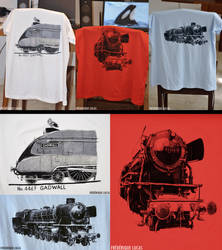 Steam engine t-shirts by namu-the-orca