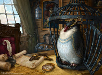 Captain's bird by KateMaxpaint