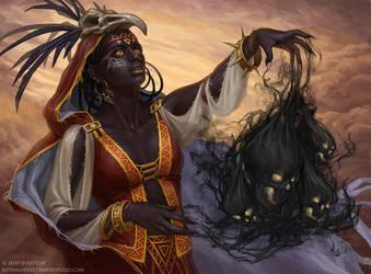 Dark witch by KateMaxpaint
