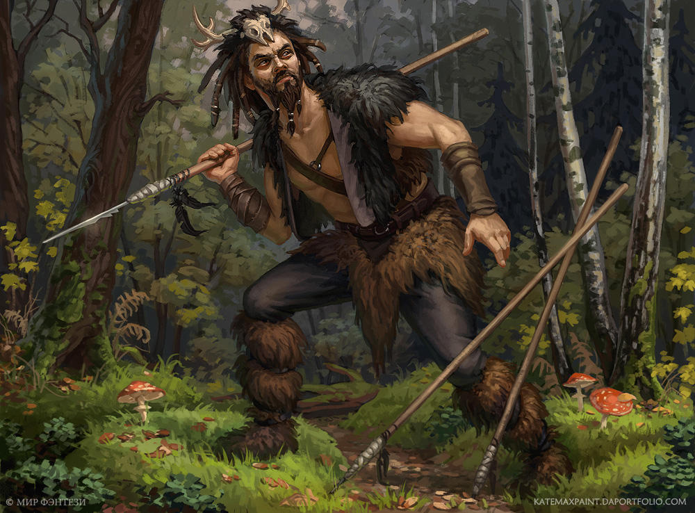 Forest man by KateMaxpaint