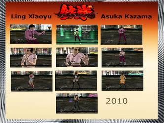 Tekken 6 costumes Ling Xiaoyu and Asuka Kazama by Nightphoenix2