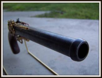 Steampunk Queen Anne Pistol by ShadowArcher80