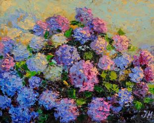 Hydrangea abstract style. by herrerojulia