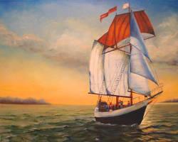 Schooner 'Freedom'. by herrerojulia