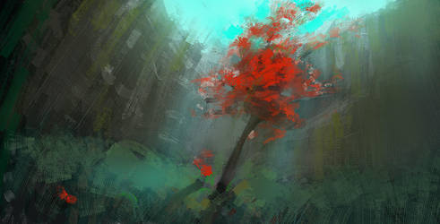Red Tree by DM7