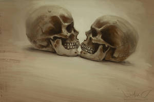 Speedpaint: Halloween 2015 Skull Study by DM7
