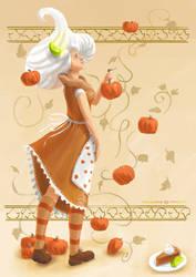 Pumpkin Pie Lady by DM7