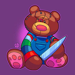 Teddy Bear Chucky by ArtisticDyslexia