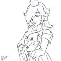 Princess Rosalina WIP by AliPwnzJoo