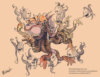 Elehpantopus digital sketch by kmish213