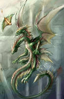 Two-head Dragon Collab Arcanum by rosedragoness