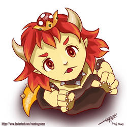 Chibi Bowsette by rosedragoness