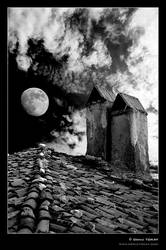 Moon in Amasra by denizt