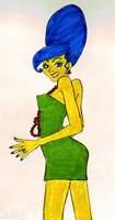 Marge Simpson Pinup by Alvyna