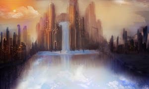 Waterfall Speedpaint by Seiikya