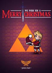 Zelda Christmas Card by Seiikya