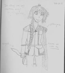 Lisa 1st sketch by AfterWeDie