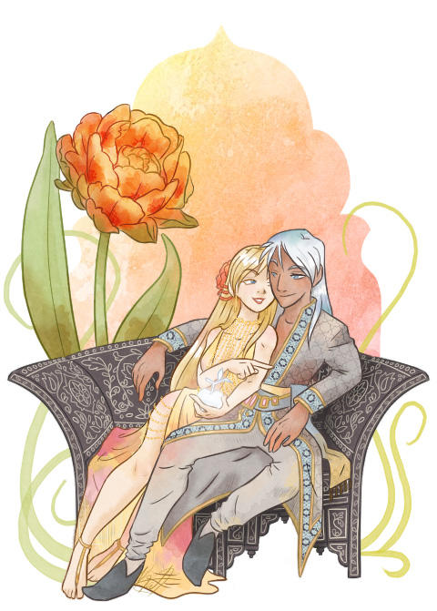 Silver Apples of the Moon - Minako and Kunzite by Passion-Assassin