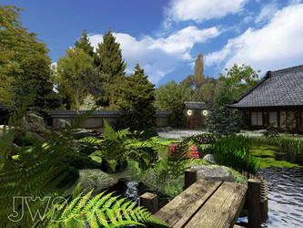 Japanese Garden2 by LittleBlueMonster