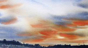 Evening in Metropolis by sahyeh