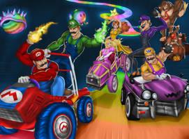 Mario Kart: Double Dash!! - Rainbow Road by Tycony23