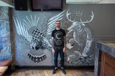 Mural. Korova, Aberdeen by 23stu