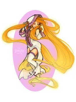 White Mage Rapunzel by Skirtzzz