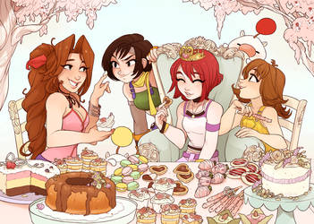 A Pastry Party for the Princess by Skirtzzz