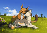 Commission | Lovers under the sun by OwlCoat