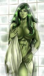 She Hulk by Flowerxl