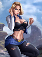 Android 18 by Flowerxl