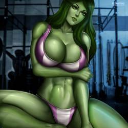 She-Hulk by Flowerxl