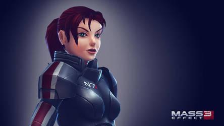 Commander Shepard by Soilworker06