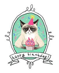 happy birthday by babsdraws