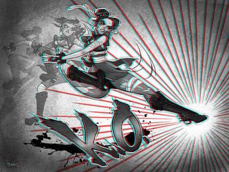 Chun-li 3D by babsdraws