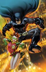 Batman and Robin, Dark Knight Style by EComrad