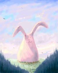 The Giant Fluffy Bunny by Bakenius