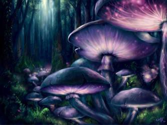 Living Mushrooms by Bakenius