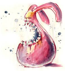 no3: teeth baring bunny by Bakenius