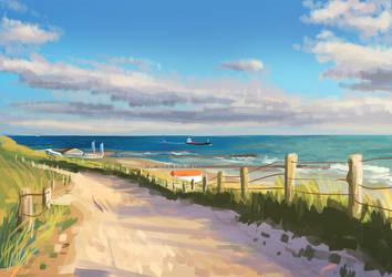 Zeeuwse kust Lichtstudie 02 by Bakenius