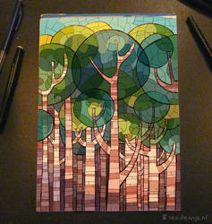 Stained Glass Tree by Bakenius