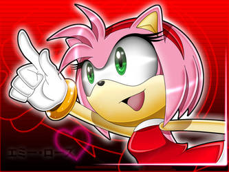 Sweet girl Amy Rose by Angrysonicgamer