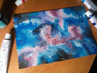Galaxy Painting by UchihaAkanee