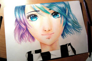 Anna Blue Drawing by UchihaAkanee